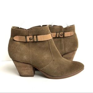 Seychelles Suede Buckle Ankle Boot Size 7